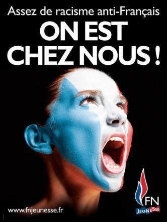 «Φτάνει με τον ρατσισμό κατά των Γάλλων». Αφίσα της νεολαίας του Ε.Μ.