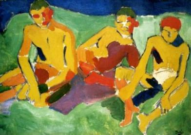Αντρέ Nτερέν, «Τρεις στο λιβάδι», 1906-1907