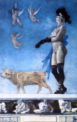 """Felicien Rops """"Pornocrates"""", 1896"""
