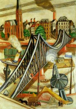 Max Beckmann - The iron footbridge, 1922