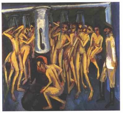 Ernst Ludwig Kirchner -  The Soldier Bath