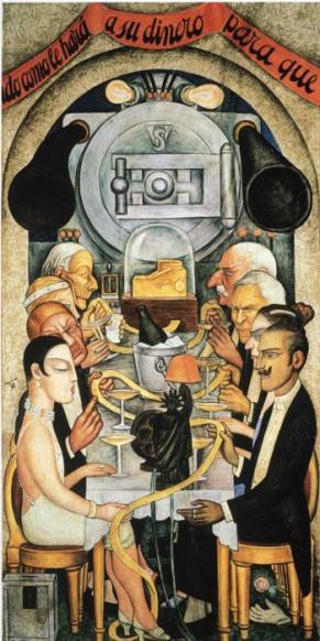 Diego Rivera - Wall Street  banquet (1928)