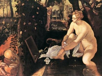Τιντορέτο, «Η Σωσάννα στο λουτρό», π. 1555