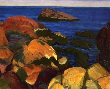 Τζων Σλόαν, «Βράχια, φύκια και θάλασσα», 1917