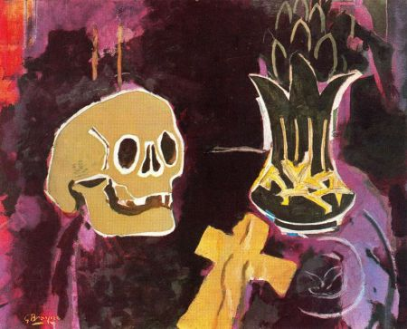 Georges Braque -  Still life with skull