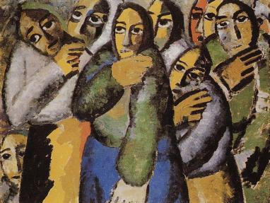 Kazimir Malevich Αγρότισσες στην εκκλήσία