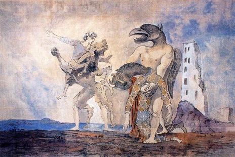 Πάμπλο Πικάσο, «Τα απομεινάρια του Μινώταυρου σε κοστούμι αρλεκίνου»
