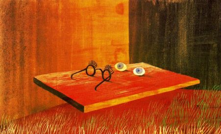 Remedios Varo - Eyes on the table