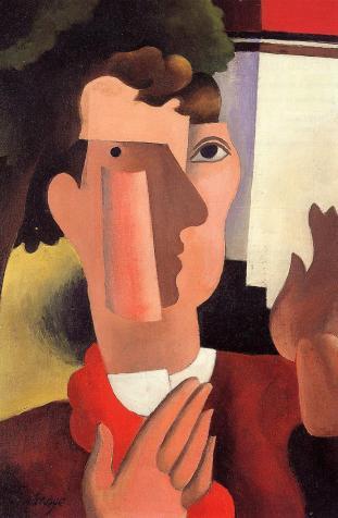 Roger de La Fresnaye - Άντρας με κόκκινο μαντήλι (1922)