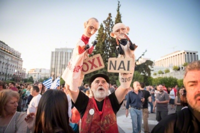Αθήνα, 3.7.2015. Φωτογραφία του Δημήτρη Παρθύμου/ Demotix/Corbis