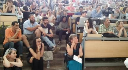 Από το συνέδριο «Democracy Rising», Νομική Αθηνών, 16-19.7.2015 (από το facebook του Μάνου Τσίζεκ)