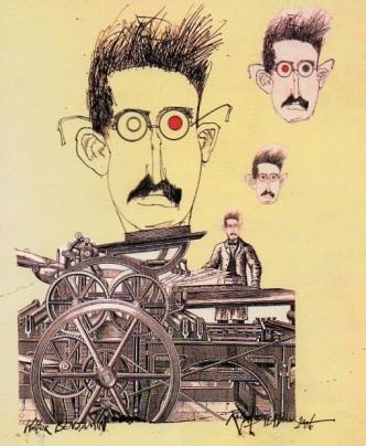 Ο Βάλτερ Μπένγιαμιν από τον Ralph Steadman
