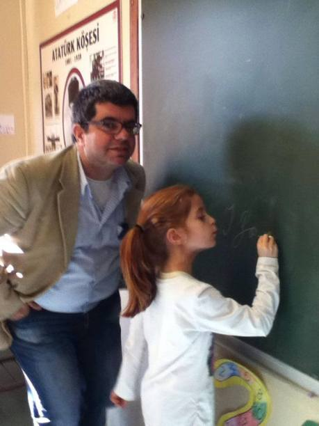 Ο Βαγγέλης Κεχριώτης με την κόρη του, Ράνα