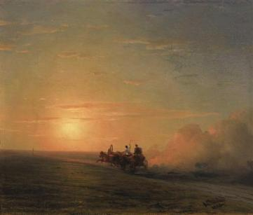 Ivan Aivazovsky - Troika in the steppe