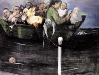 Εδουάρδος Σακαγιάν, «Στη βάρκα», 1990-92