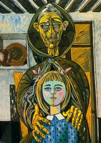 Rafael Zabaleta - The old woman and the girl (1957)