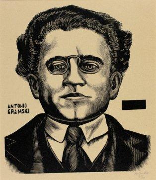 Αντόνιο Γκράμσι. Ξυλογραφία του Leopoldo Méndez