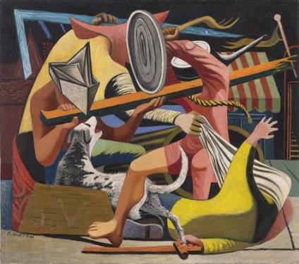 "Philip Guston  ""Moνομάχοι"" (1940)"