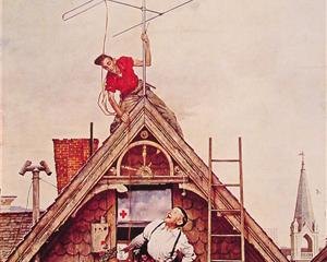 Norman Rockwell - New Television Antenna (1949)