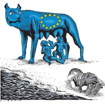 Σκίτσο του Osmani Simanc για τη βραζιλιάνικη εφημερίδα «Α Τarde»