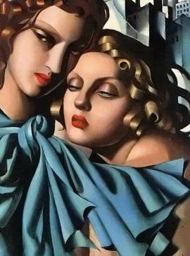 Ταμάρα ντε Λεμπίντσκε, «Δυο κορίτσια», 1928
