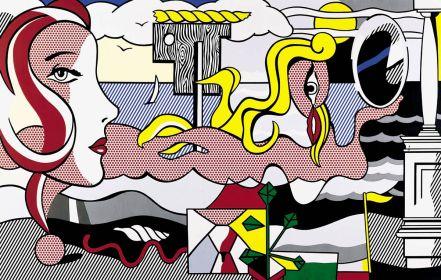 Ρόι Λιχτενστάιν, «Μορφές σε τοπίο», 1977