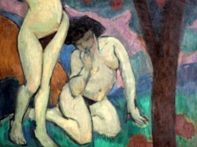 Roger de la Fresnaye, «Γυμνά σε τοπίο», 1910