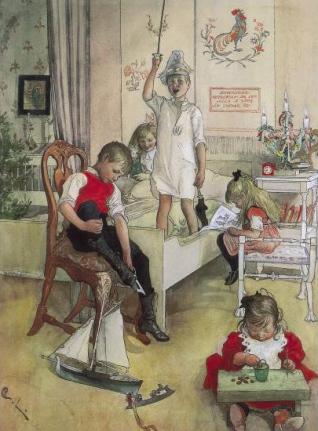 """Kαρλ Λάρσον """"Χριστουγεννιάτικο πρωϊνό"""" (1894)"""