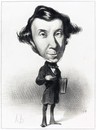 O Αλέξις ντε Τοκβίλ. Σκίτσο του Ονορέ Ντωμιέ, 1849