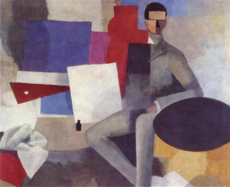 Roger de La Fresnaye - Seated man