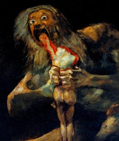 Φρανθίσκο Γκόγια, «Ο Kρόνος καταβροχθίζει τον γιο του», 1819-1823