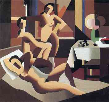 Rene Magritte - Three nudes in an interior