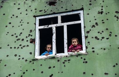 Παιδιά στο Σιλόπι φωτο Ilyas Akengin-AFP