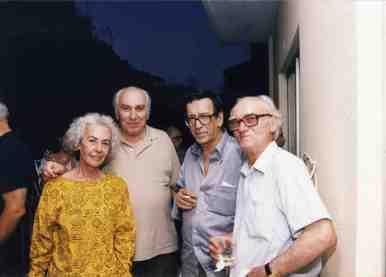 Από τα εγκαίνια των Γραφείων της ΕΜΙΑΝ, Ιούνιος 2000. Διακρίνονται από δεξιά οι Στέφανος Στεφάνου, Φίλιππος Ηλιού, Τάκης Μπενάς και Αθηνά Νικολάου
