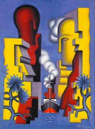 Jean Metzinger - Ο ισθμός της Κορίνθου (1928)