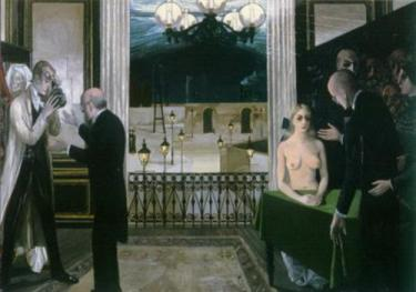 Paul Delvaux -  School of researchers (1958)