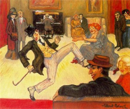 Albert Bloch - The dancer (Ragtime), 1911