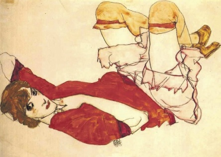 Έγκον Σίλε, « Η Γουόλι με κόκκινη μπλούζα», 1913