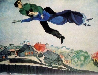 Μαρκ Σαγκάλ, «Πάνω από την πόλη», 1918