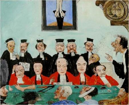 Εικόνα: Τζ. Ένσορ, «Οι καλοί δικαστές»,1891