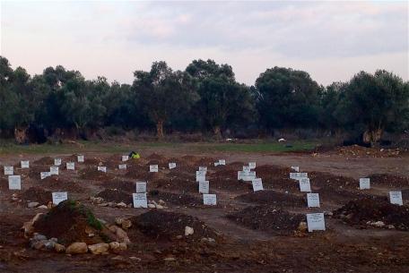 Το νεκροταφείο. Φωτογραφία της  Ηλ. Αλεξανδροπούλου