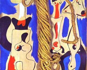 Joan Miro, - Rope and People I (1935)