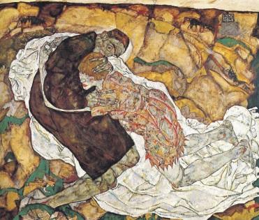 Έγκον Σίλε, «Ο θάνατος και η κόρη», 1915