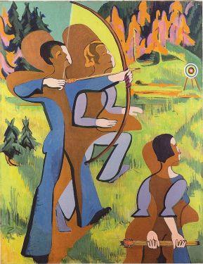 Ερνστ Λούντβιχ Κίρχνερ, «Οι τοξότες», 1935-37