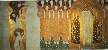 Γκούσταβ Κλίμτ, «Η λαχτάρα για την Ευτυχία βρίσκει απαντοχή στην Ποίηση (από τη «ζωφόρο του Μπετόβεν»), 1902