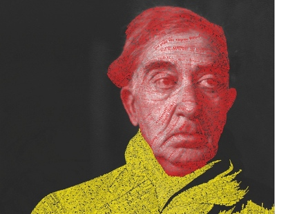 Οδυσσέας Γαληνός-Παπαρούνης (Wu Design Lab), «Kουβέντες στοιβαγμένες μέσα του», 2012 (το έργο απαρτίζεται από στίχους ή λέξεις 166 ποιημάτων του Κ.Π. Καβαφη) Πήγη:http://www.designmag.gr