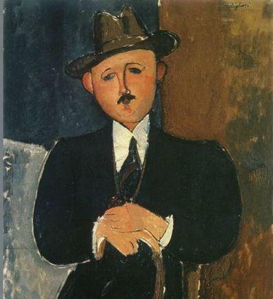 Α. Μοντιλιάνι «Καθιστός άνδρας με μπαστούνι» (1918). Ο πίνακας είχε χαθεί και, μέσω των Panama Papers, εντοπίστηκε στη Γενεύη