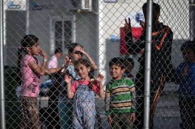 Κέντρο κράτησης ΒΙΑΛ Χίου - 4 Απριλίου 2016 (Λουίζα Γουλιαμάκη-AFP-Getty)