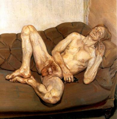 Lucian Freud - Naked man with rat